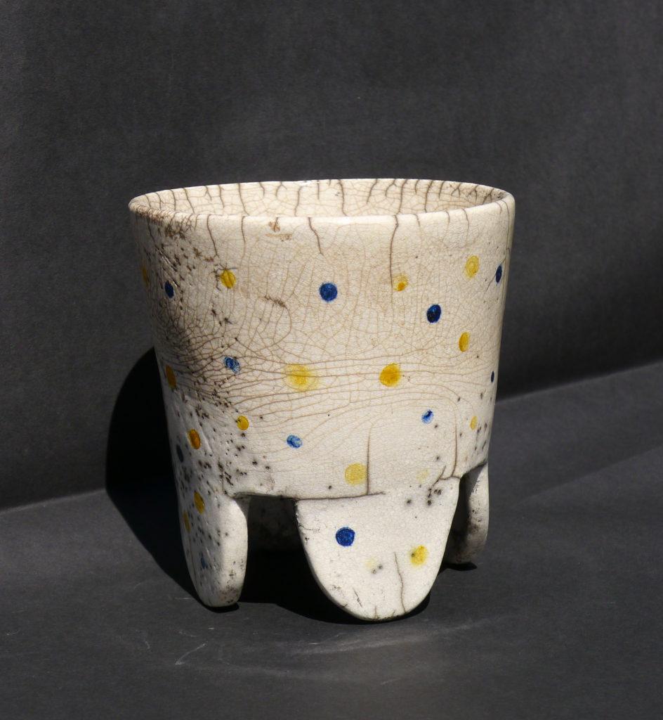 Raku pot. Image used in'Homes & Antiques' September 2018